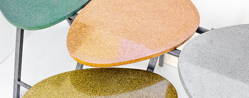 Granito tables of various colours